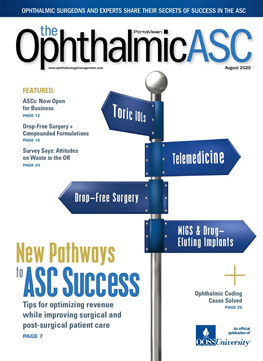 The Ophthalmic ASC Magazine - August 2020